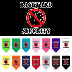 Backyard Security Screen Print Bandana