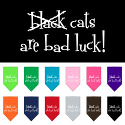 Black Cats are Bad Luck Screen Print Bandana
