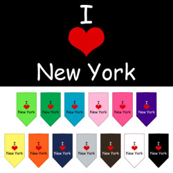 I Heart New York  Screen Print Bandana