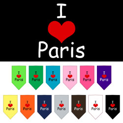 I Heart Paris  Screen Print Bandana