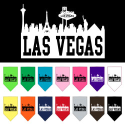 Las Vegas Skyline Screen Print Bandana