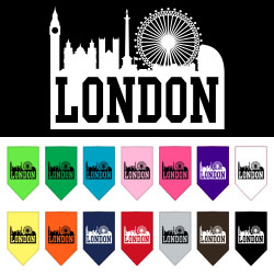 London Skyline Screen Print Bandana