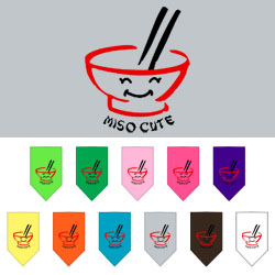 Miso Cute Screen Print Bandana