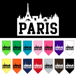 Paris Skyline Screen Print Bandana