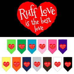 Ruff Love Screen Print Bandana