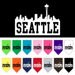 Seattle Skyline Screen Print Bandana