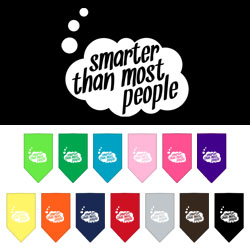Smarter then most People Screen Print Bandana