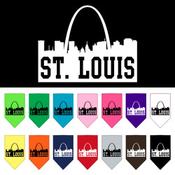 St Louis Skyline Screen Print Bandana