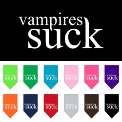 Vampires Suck Screen Print Bandana