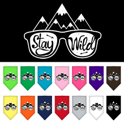 Stay Wild Screen Print Bandana