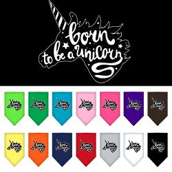 Born to be a Unicorn Screen Print Dog Bandana