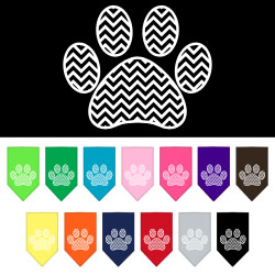 Chevron Paw Screen Print Bandana