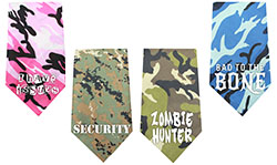 Screen Print Camo Bandanas