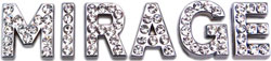 3/4'' (18mm) Clear Letter Sliding Charms