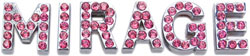 3/4'' (18mm) Pink Letter Sliding Charms