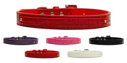 3/8'' (10mm) Faux Croc Two Tier Collars