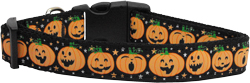 Pumpkins Nylon Ribbon Dog Collars