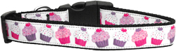Pink and Purple Cupcakes Dog Collar