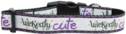 Wickedly Cute Nylon Dog Collar