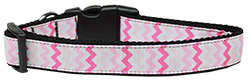 Sweet Chevrons Nylon Dog Collar