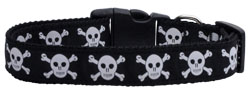 Skulls Nylon Ribbon Dog Collars