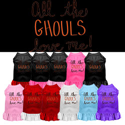 All the Ghouls Screen Print Dog Dress