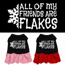 All my friends are Flakes Screen Print Dress