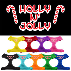 Holly N Jolly Screen Print Soft Mesh Harness