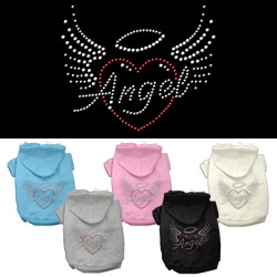 Angel Heart Rhinestone Hoodies