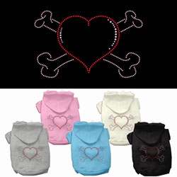 Heart and Crossbones Hoodies