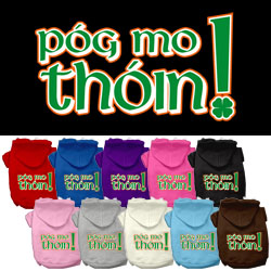 Pog Mo Thoin Screen Print Pet Hoodies