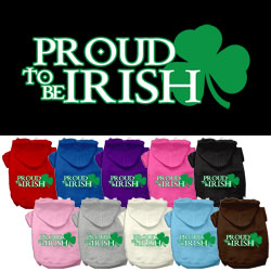Proud to be Irish Screen Print Pet Hoodies