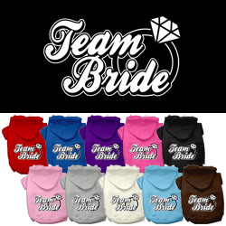 Team Bride Screen Print Pet Hoodies