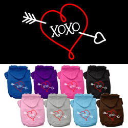 XOXO Screen Print Pet Hoodies