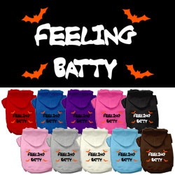 Feeling Batty Screen Print Pet Hoodies