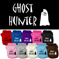 Ghost Hunter Screen Print Pet Hoodies