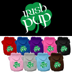 Irish Pup Screen Print Pet Hoodies
