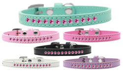 Bright Pink Crystal Puppy Collar