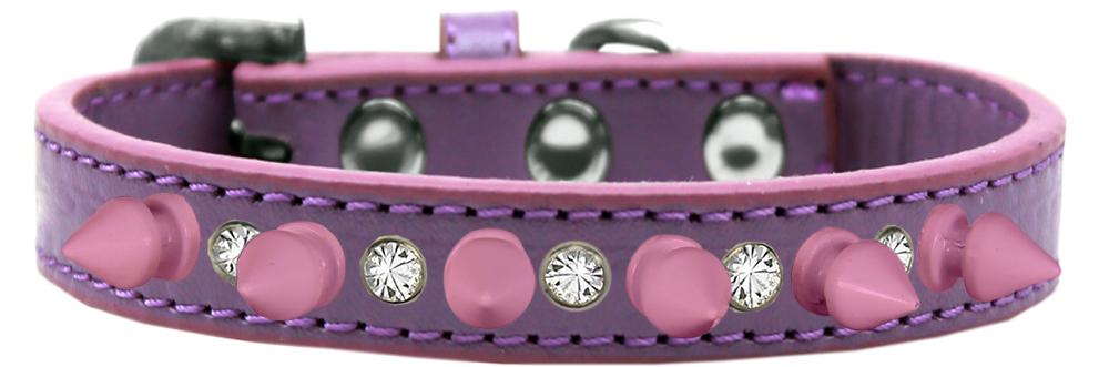 Lavender Crystal Dog Collar