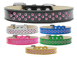 Sprinkles Ice Cream Dog Collar Bright Pink Crystals