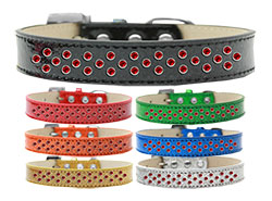 Sprinkles Ice Cream Dog Collar Red Crystals