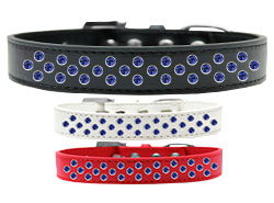 Sprinkles Dog Collar Blue Crystals