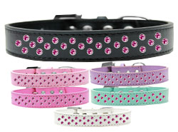Sprinkles Dog Collar Bright Pink Crystals