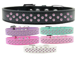 Sprinkles Dog Collar Light Pink Crystals