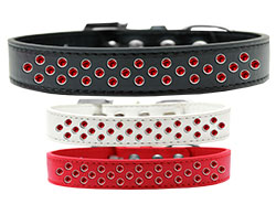 Sprinkles Dog Collar Red Crystals