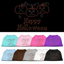 Happy Halloween Rhinestone Pet Shirts