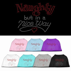 Naughty But Nice Rhinestone Pet Shirts