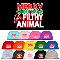 Ya Filthy Animal Screen Print Pet Shirt