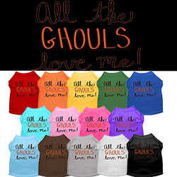 All the Ghouls Screen Print Dog Shirt