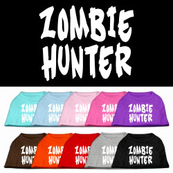 Zombie Hunter Screen Print Pet Shirt